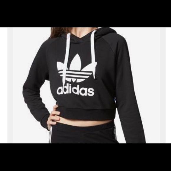 Adidas Sweater Adidas SweatersCrop Sweater SweatersCrop Poshmark Adidas Poshmark kiZuPXO